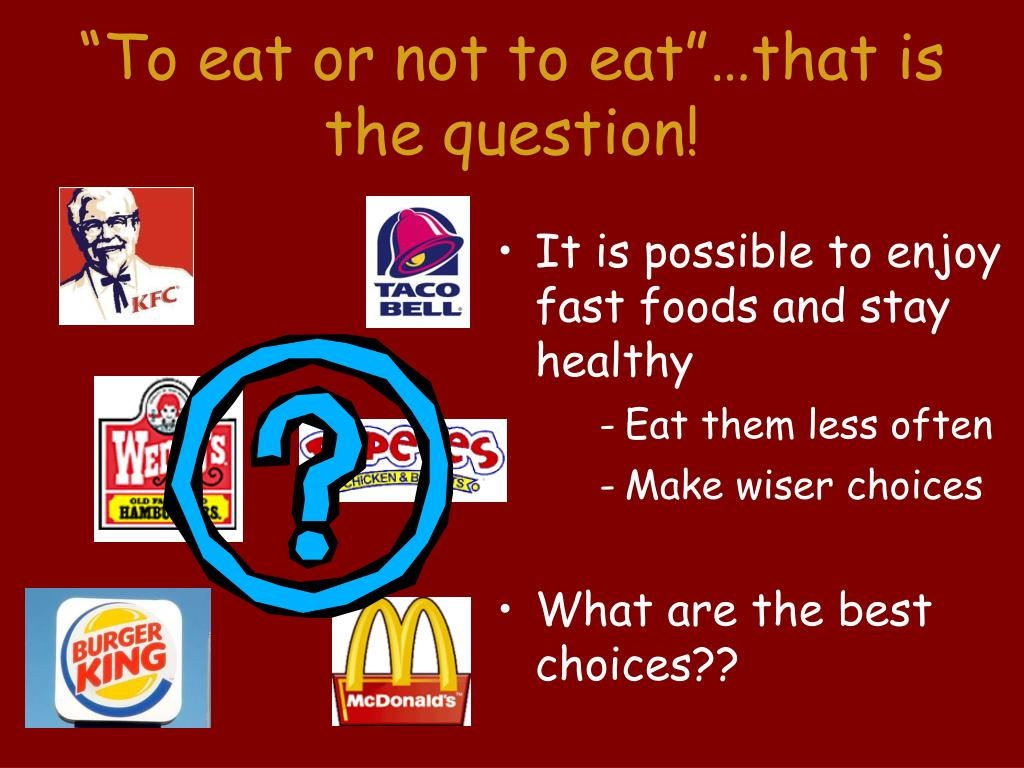 how to not eat fast food