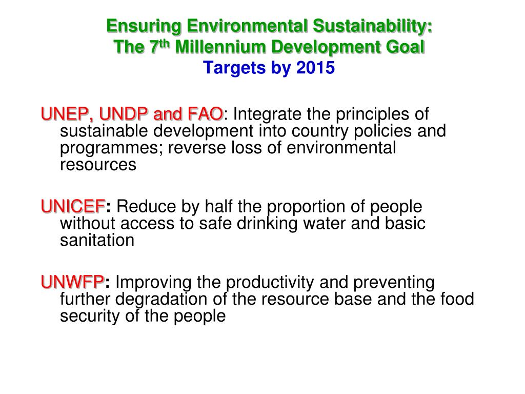 Ensuring Environmental Sustainability: