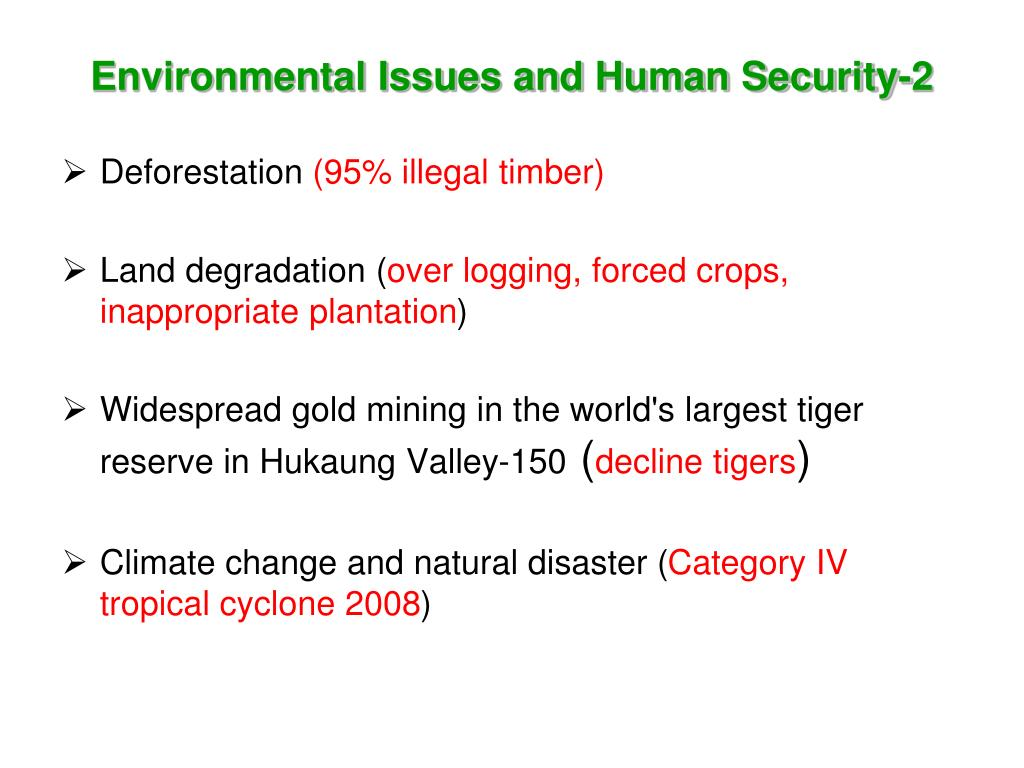 Environmental Issues and Human Security-2