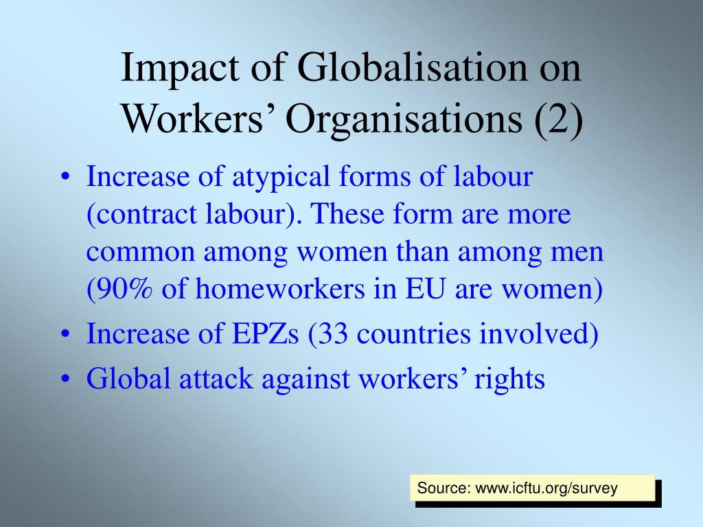 Impact of Globalisation on Workers' Organisations (2)