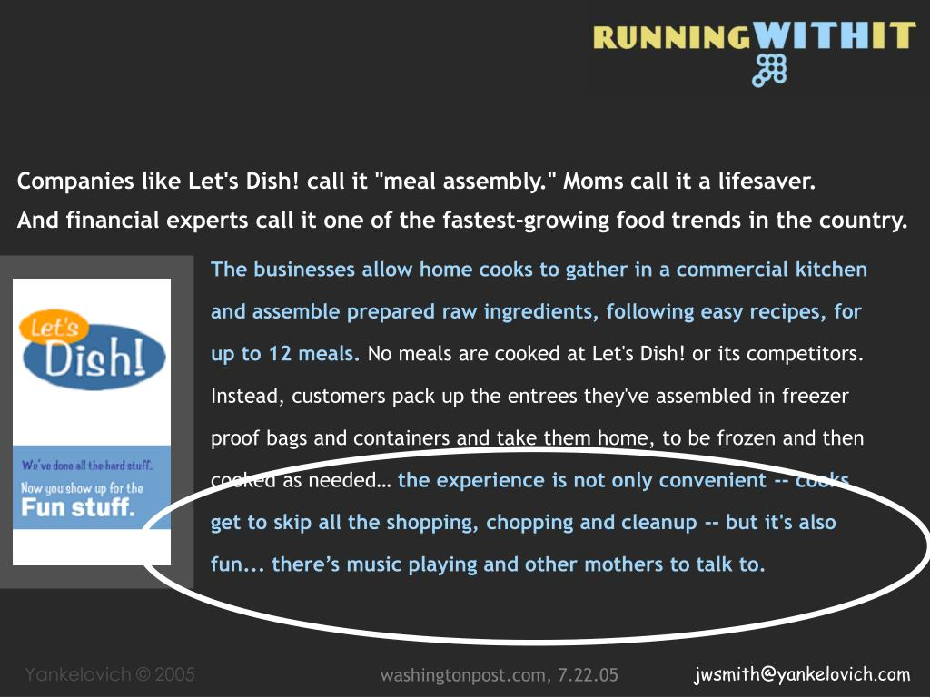 """Companies like Let's Dish! call it """"meal assembly."""" Moms call it a lifesaver."""