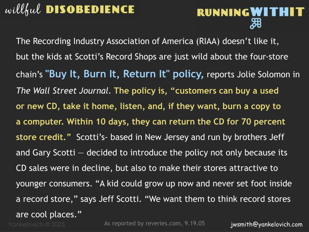 The Recording Industry Association of America (RIAA) doesn't like it,
