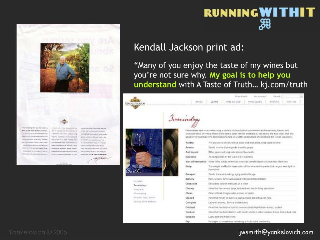 Kendall Jackson print ad: