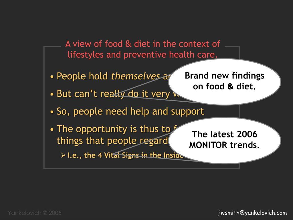 Brand new findings on food
