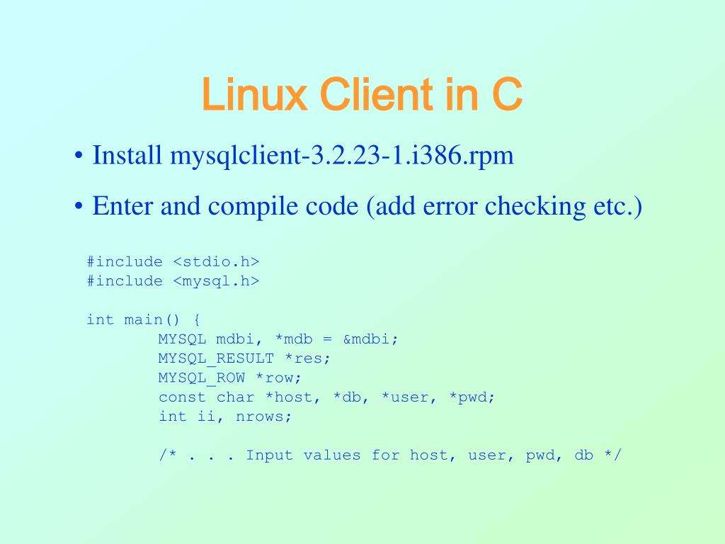 Linux Client in C