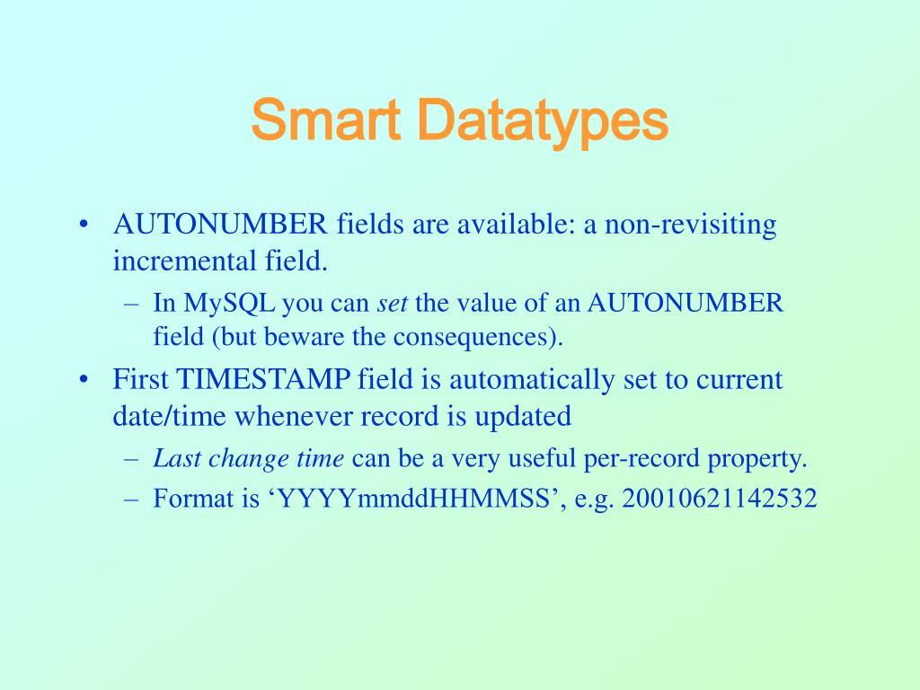 Smart Datatypes