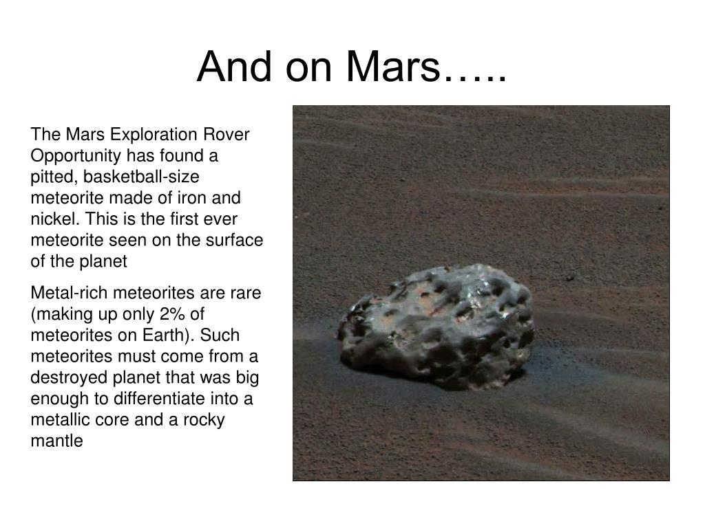 And on Mars…..