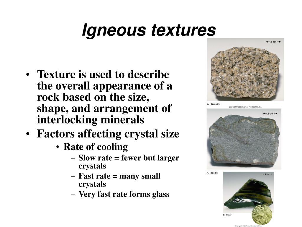 Igneous textures