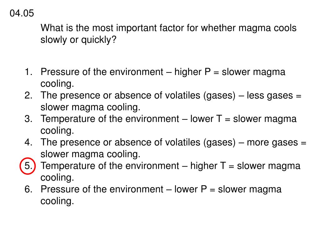 What is the most important factor for whether magma cools slowly or quickly?