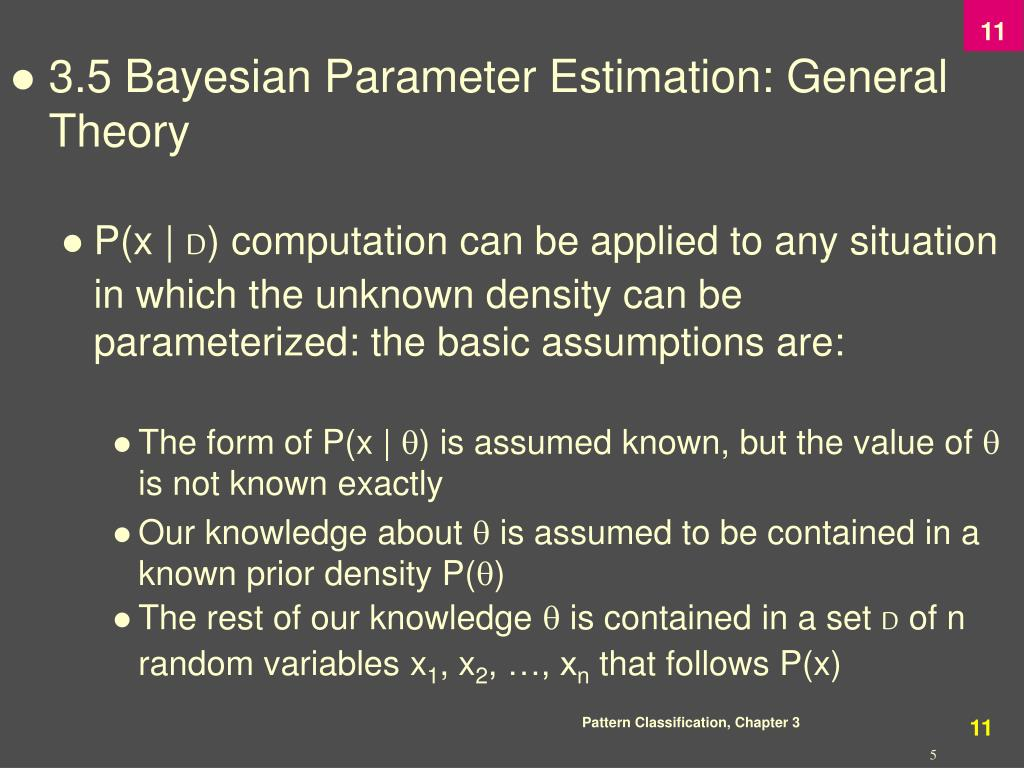 3.5 Bayesian Parameter Estimation: General Theory