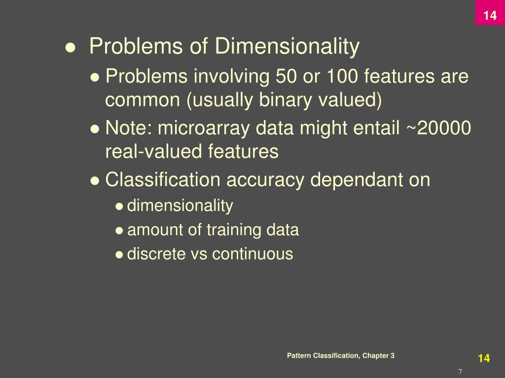 Problems of Dimensionality