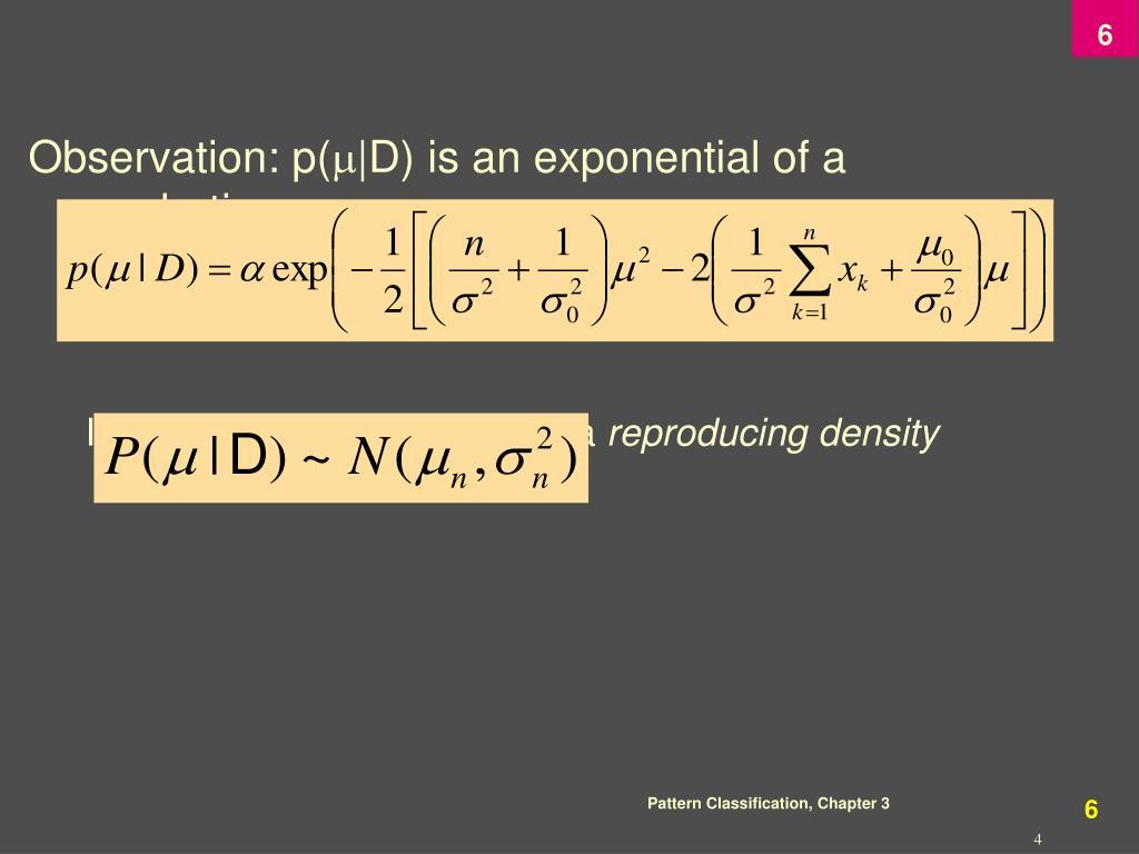 Observation: p(