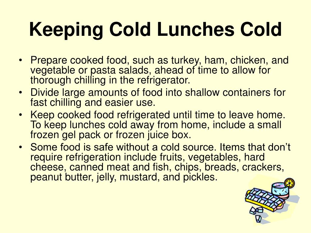 Keeping Cold Lunches Cold