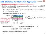 ams sketching for multi join aggregates