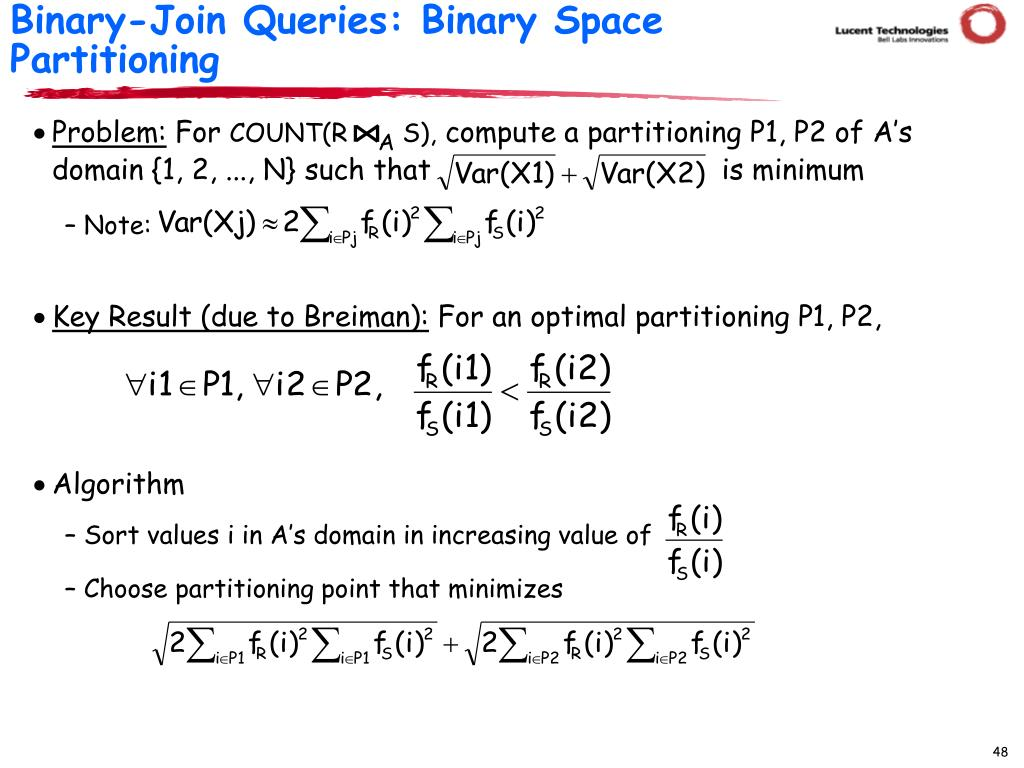 Binary-Join Queries: Binary Space