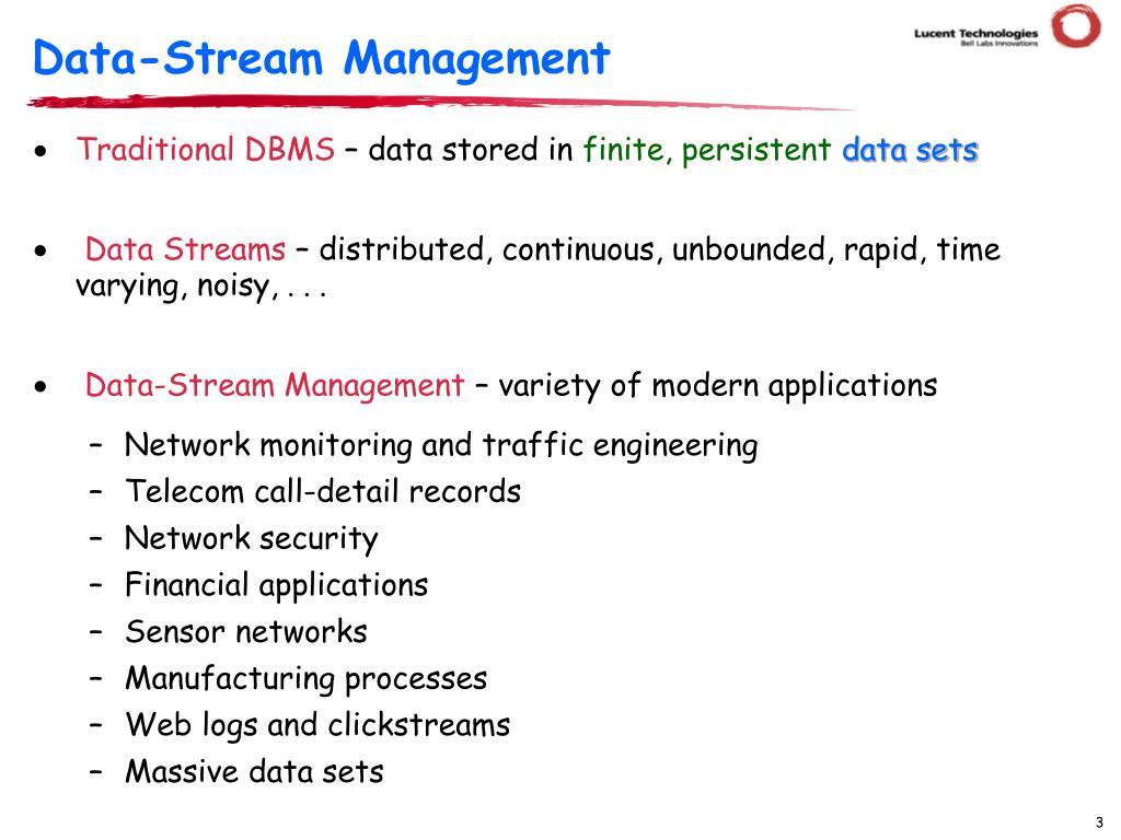 Data-Stream Management