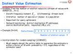 distinct value estimation