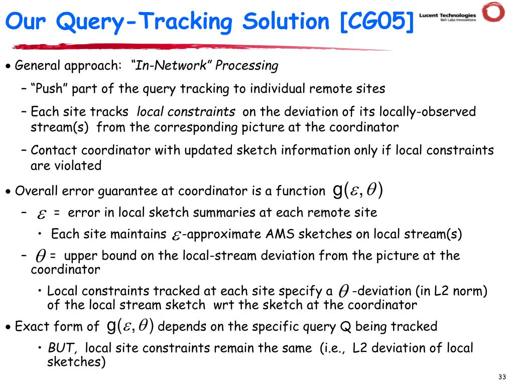 Our Query-Tracking Solution [CG05]