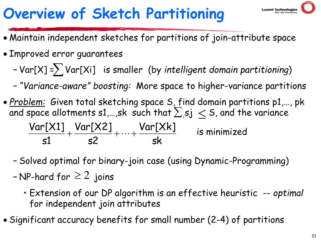 Overview of Sketch Partitioning