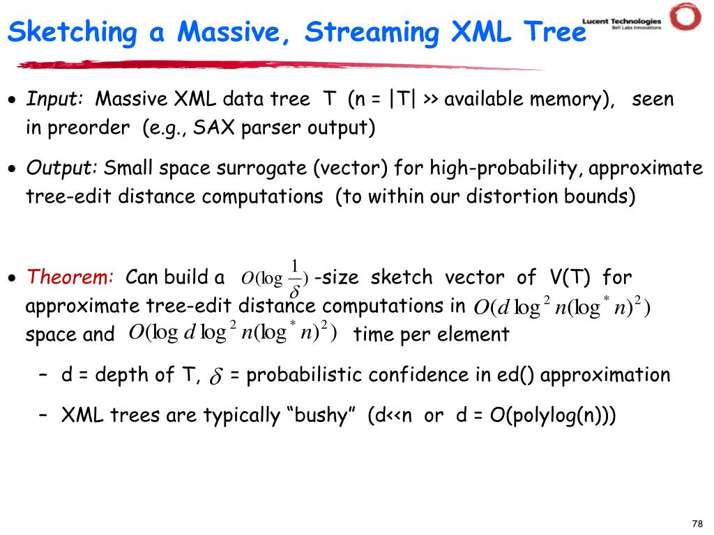 Sketching a Massive, Streaming XML Tree