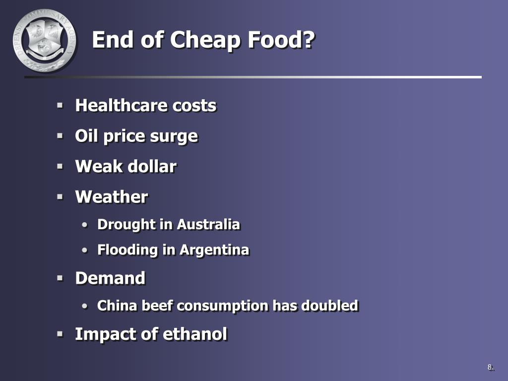 End of Cheap Food?