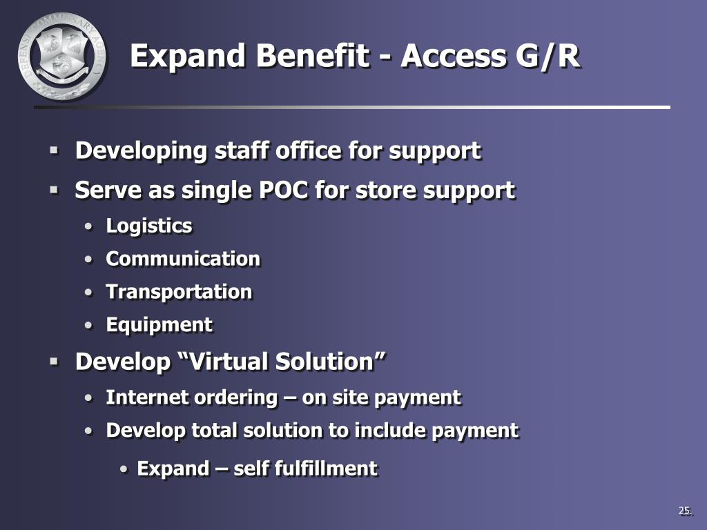 Expand Benefit - Access G/R