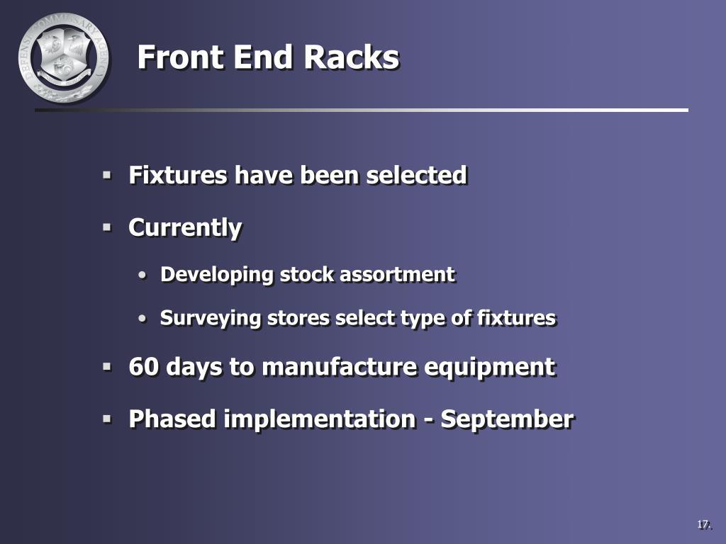 Front End Racks