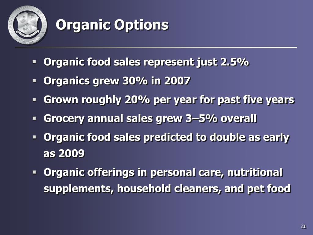Organic Options