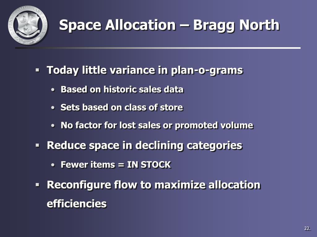 Space Allocation – Bragg North