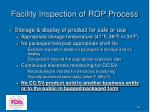 facility inspection of rop process43