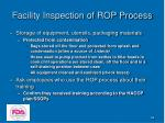 facility inspection of rop process44