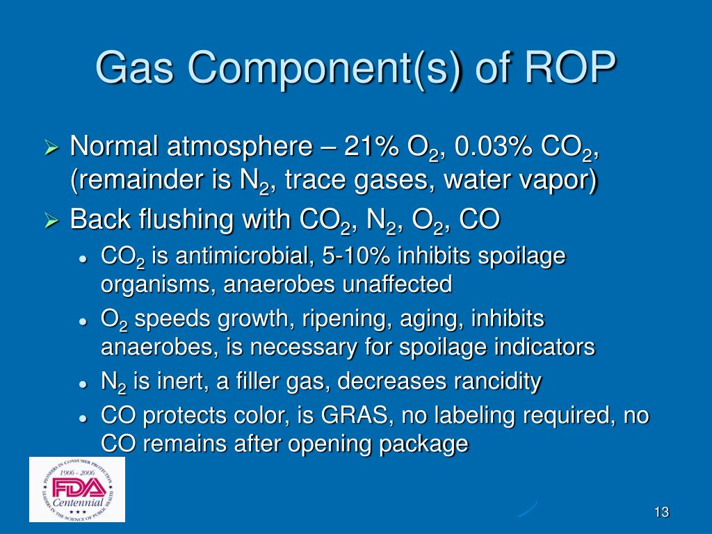 Gas Component(s) of ROP