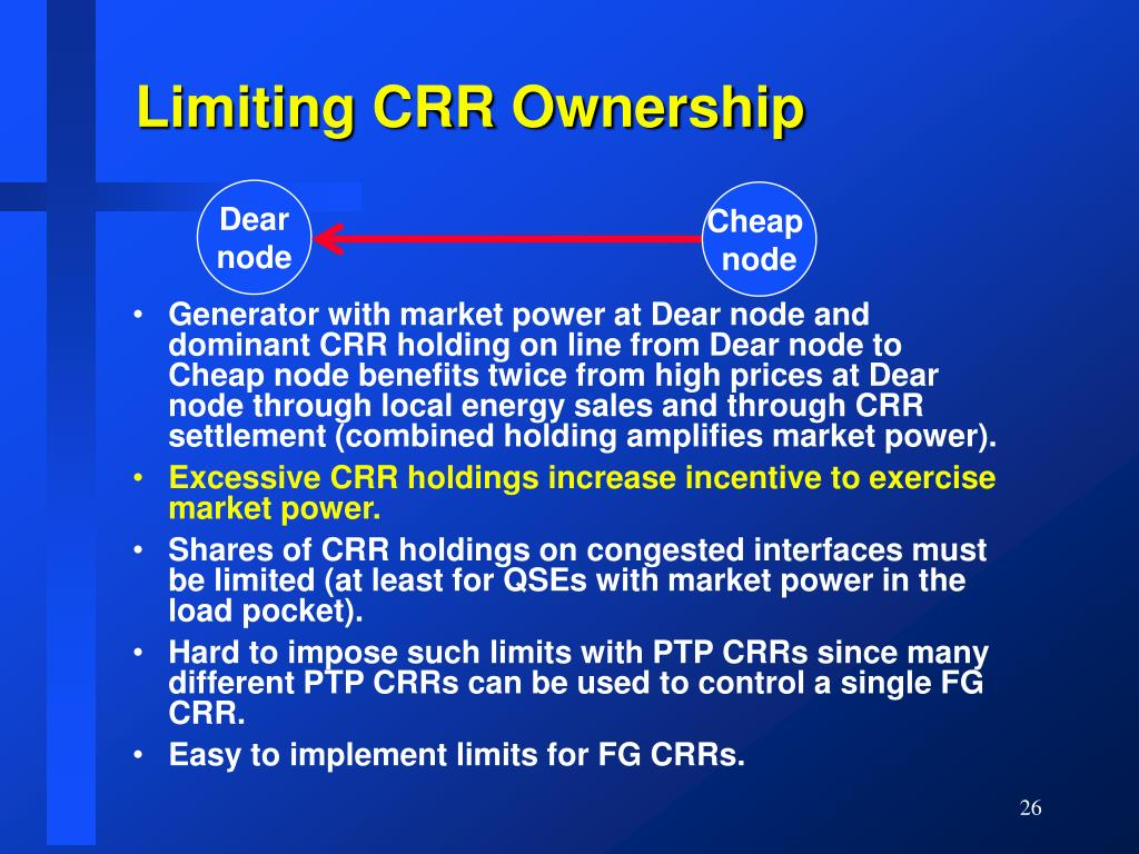 Limiting CRR Ownership