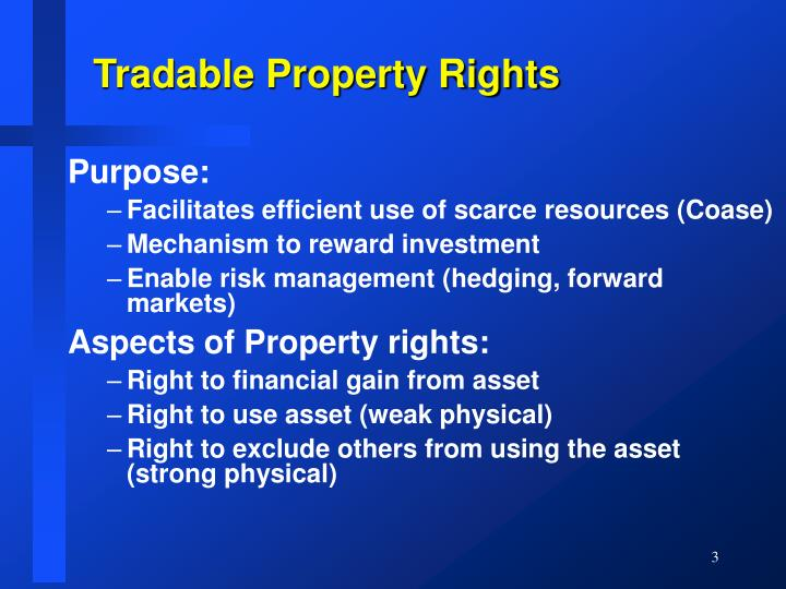 Tradable property rights