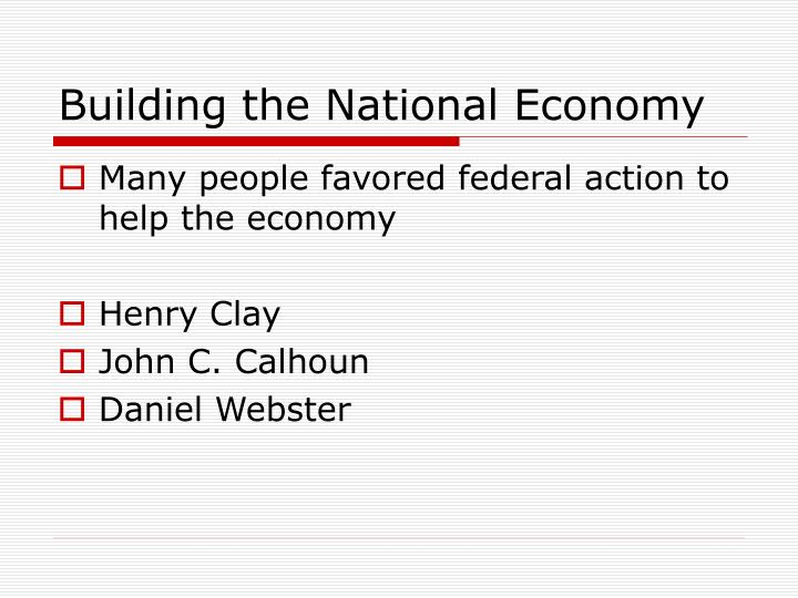 Building the national economy