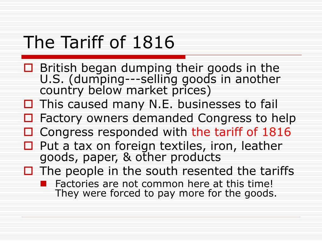 The Tariff of 1816
