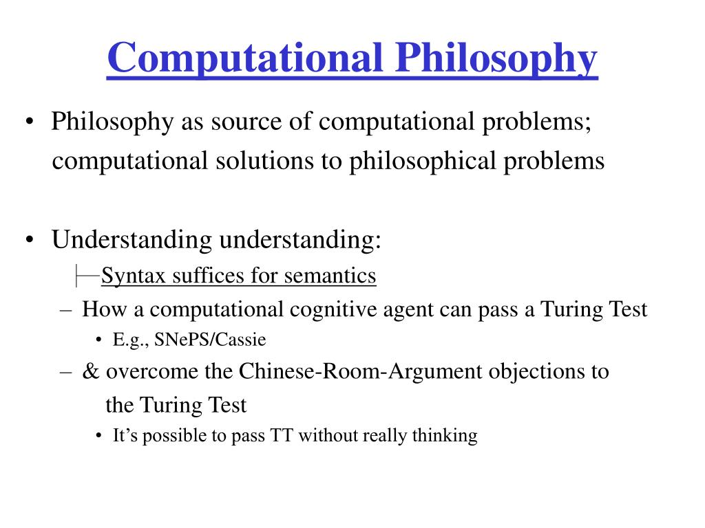 Computational Philosophy