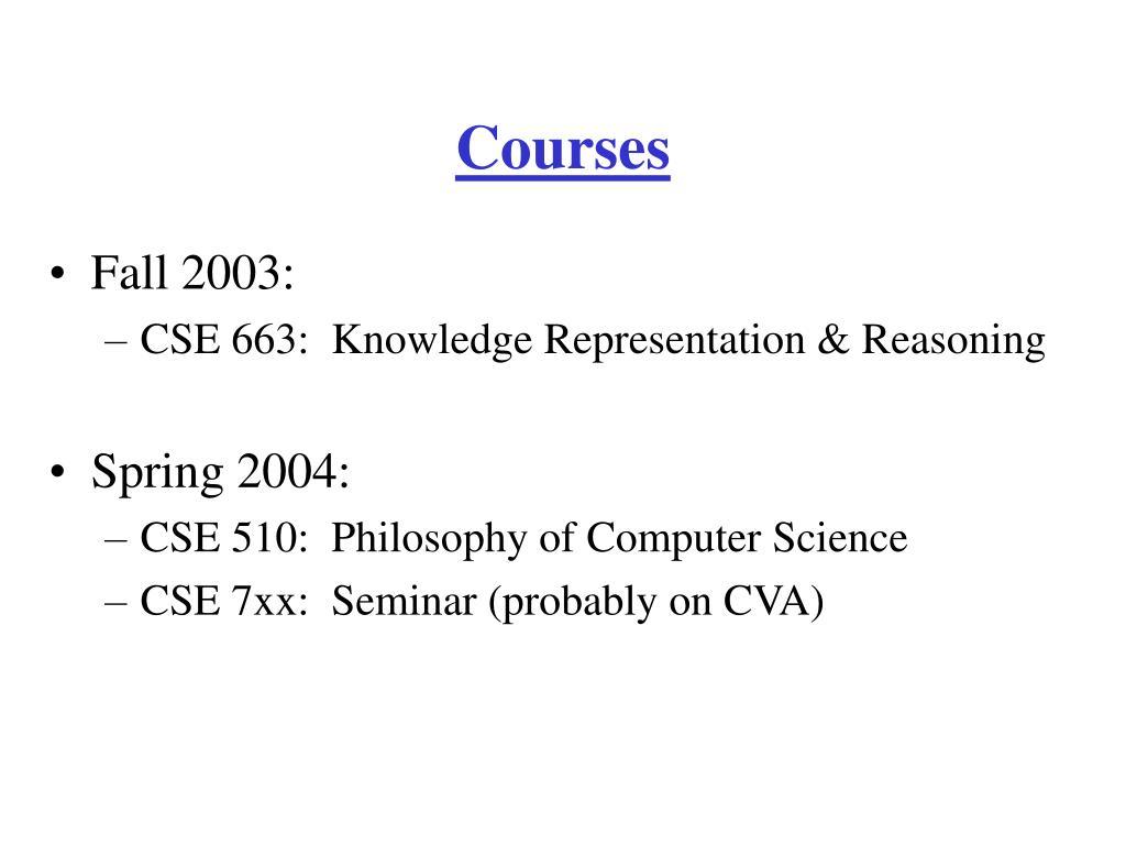 Courses