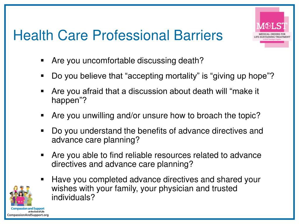 Health Care Professional Barriers