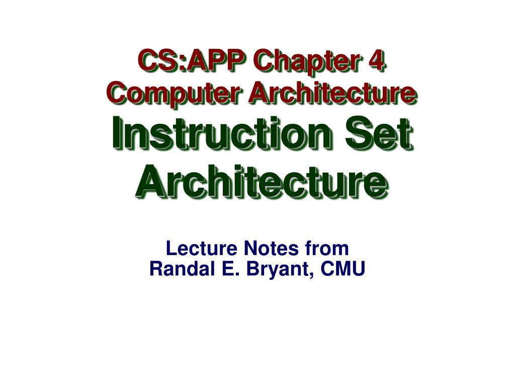 CS:APP Chapter 4