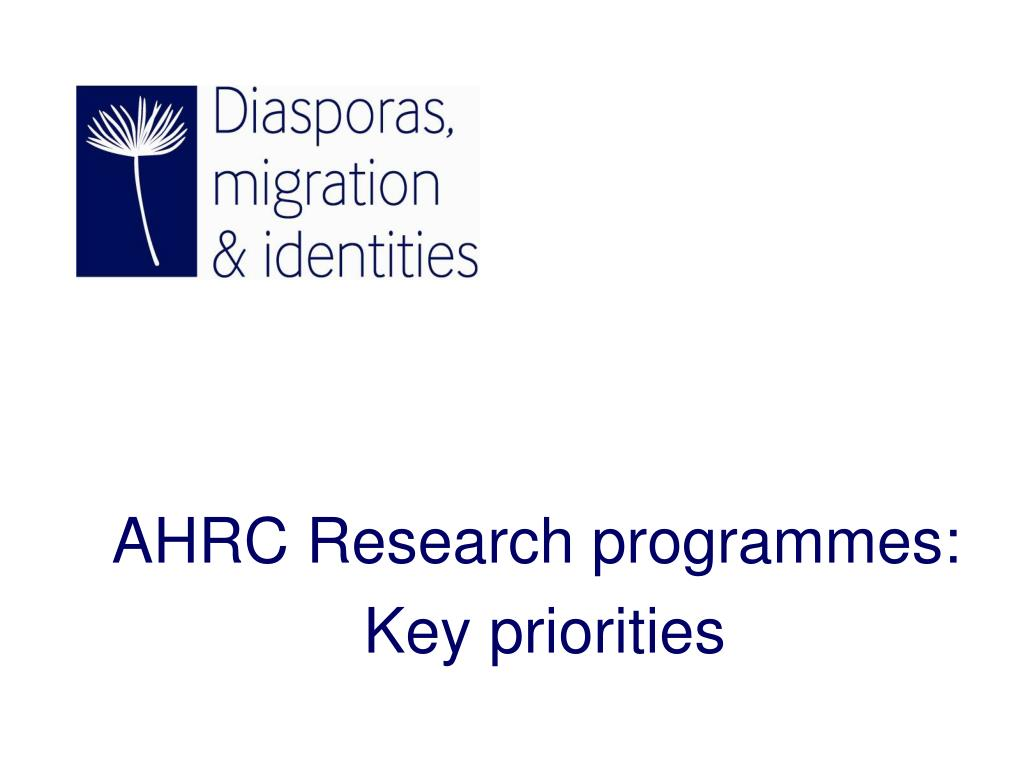 AHRC Research programmes: