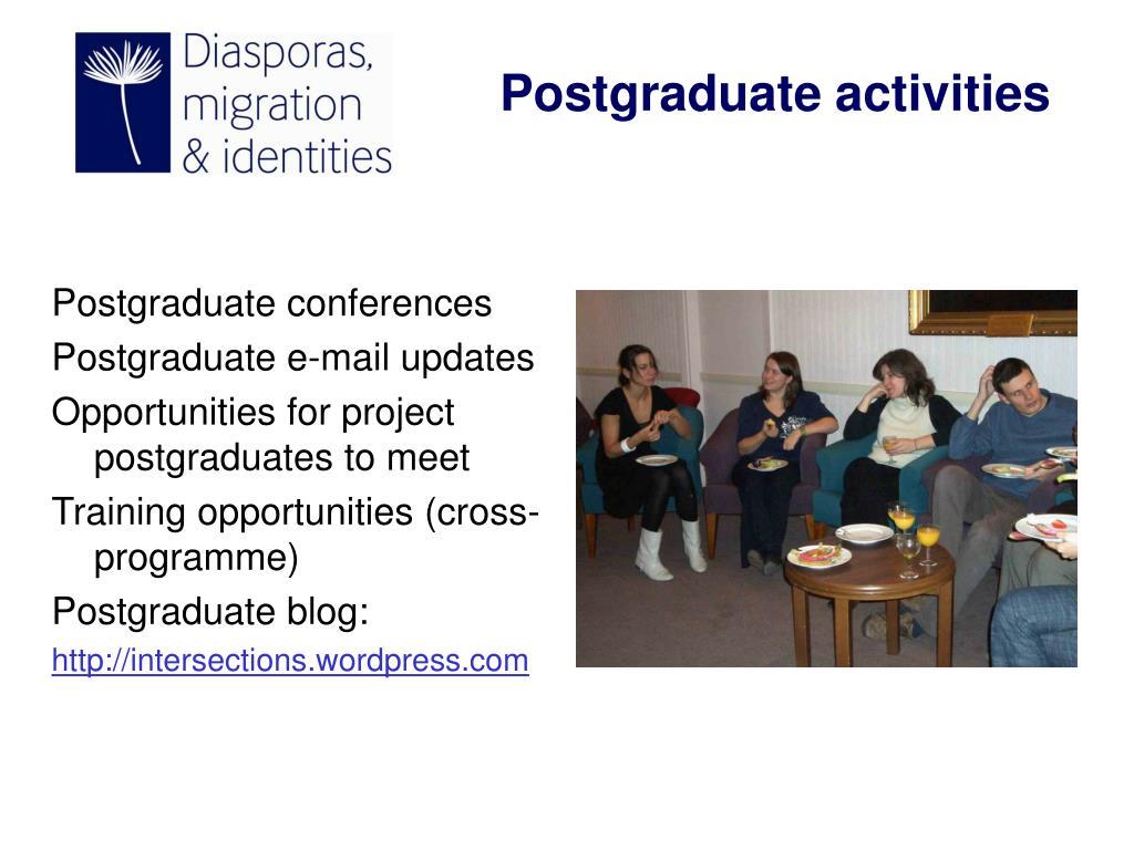 Postgraduate conferences