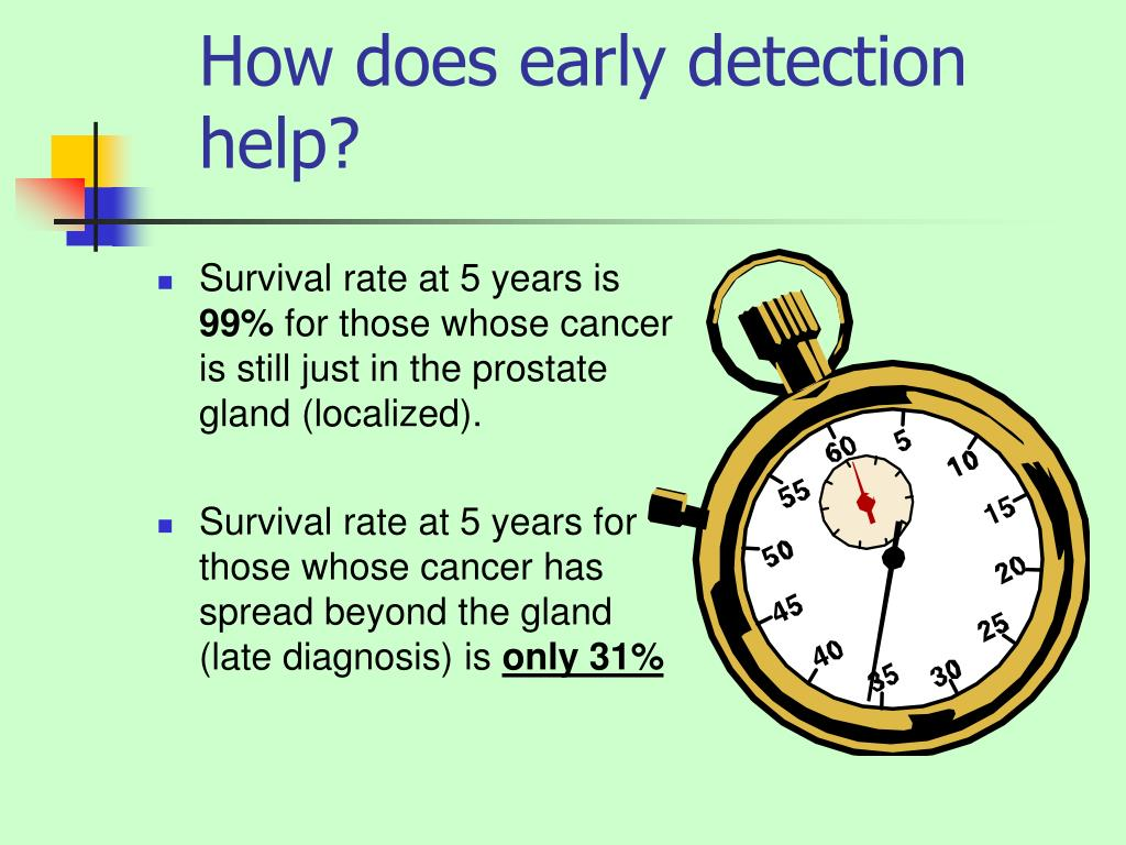 How does early detection help?