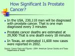 how significant is prostate cancer