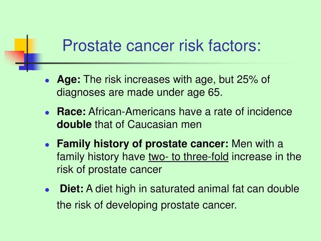 Prostate cancer risk factors: