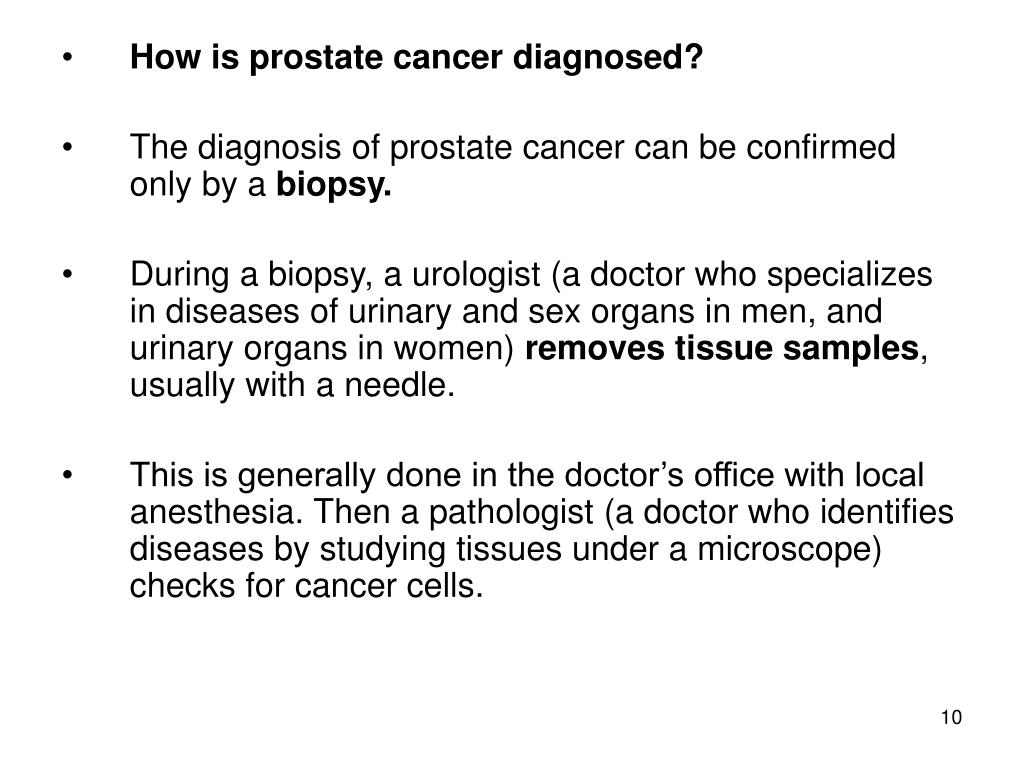 How is prostate cancer diagnosed?