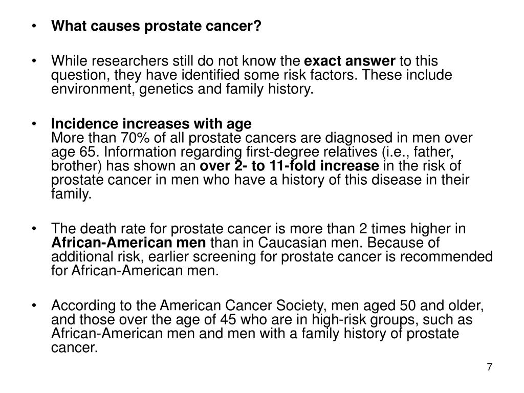 What causes prostate cancer?