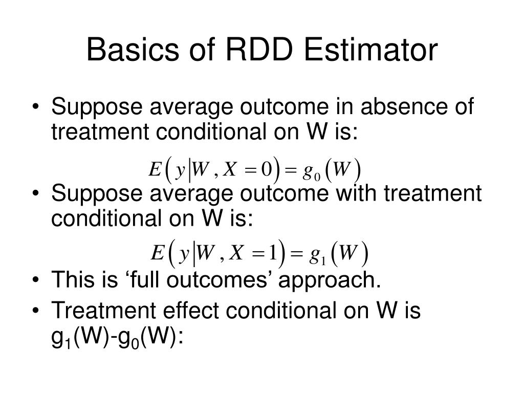 Basics of RDD Estimator