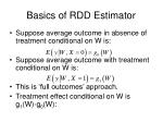 basics of rdd estimator
