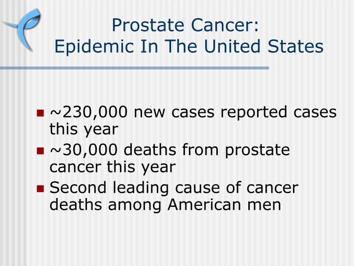Prostate cancer epidemic in the united states